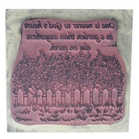 Stamps Happen One is near to God's Heart in the Garden Wooden Rubber Stamp