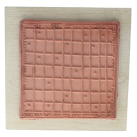 Imaginations Checkered Blanket Calendar Board Wooden Rubber Stamp