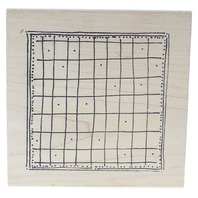 Imaginations Checkered Blanket Calendar Board Wooden Rubber Stamp