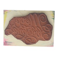 Hero Arts Large Merry Christmas Words Writing Wooden Rubber Stamp