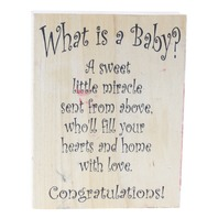 Stamping Sensations What is a Baby? Congratuations Wooden Rubber Stamp