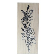Embossing Arts Co. Roses Bookmark 1989 Wooden Rubber Stamp