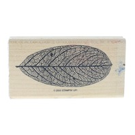 Stampin UP 2000 Unique Leaf with Veins visible Wooden Rubber Stamp
