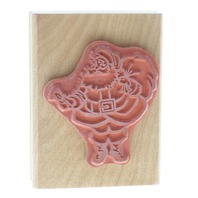 Canadian Maple Collection Santa Claus with Toy Sack and Bell Wooden Rubber Stamp