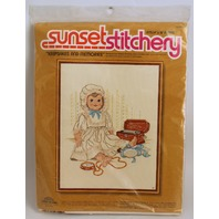 "Vintage Stitchery Keepsakes and Memories Frame 14' x 18"" Kit"