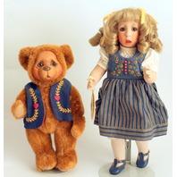 Wendy Lawton Doll Goldilocks And Baby Bears Fairytales In Folk Stories in Box