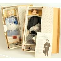 Danbury Mint Amish Bride and Bridegroom Dolls in Original Boxes
