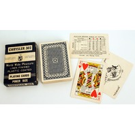 Chrysler 302 World wide Pleasure Vintage Deck of Playing Cards