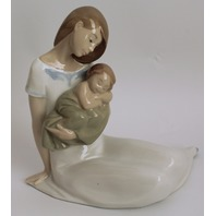 """Nao Lladro """"Light of My Days"""" Mother and Child Baby Sitting 6.25"""" #1446"""