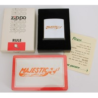 Zippo Tape Measure in Original Box and Matching Deck of Cards Sealed Magestic