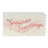 All Night Media 667G Seasons Greetings Wooden Rubber Stamp