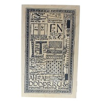 Stampa RosaTin Can Mail Collage 2000 Wooden Rubber Stamp