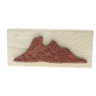 Denami Design Whimsical Sketched Flower Garden and Butterfly Wooden Rubber Stamp