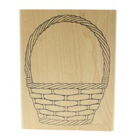 Sweet Impressions 1999 Wicker Basket Easter Flower Wooden Rubber Stamp