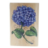 Rubber Stampede 3262H Hydrangia Flower Wooden Rubber Stamp