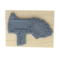 Art Impressions Mailbox To Greeting with Flowers Wooden Rubber Stamp