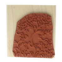 Stampin UP 2003 Tree with Birds with Whimsical Bees Wooden Rubber Stamp