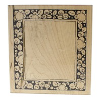 JRL Design Bold Sun Flower Frame #6015 Wooden Rubber Stamp