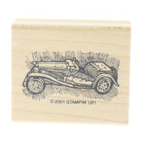 Stampin Up 2001 Vintage Vehicle Car Convertible Wooden Rubber Stamp