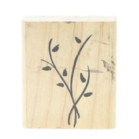 Twisting Vines with leaves Wooden Rubber Stamp