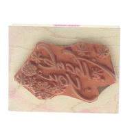 Hero Arts Thank You with Sprinkle Flowers Wooden Rubber Stamp