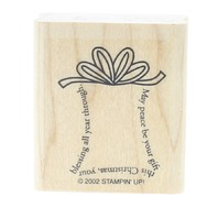 Stamping Up 2002 May Peace be your Gift this Christmas Wooden Rubber Stamp
