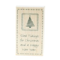 Glad Tidings for Christmas and a Happy New Year Hero Arts Wooden Rubber Stamp