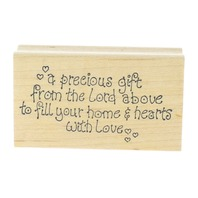 A Precious Gift from the Lord Home Love Art Impressions Wooden Rubber Stamp