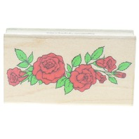 Hero Arts Rose Garland Swag F-650 Wooden Rubber Stamp