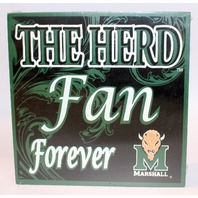 The Herd Fan Forever Marshall Wooden Distressed College Square Sign