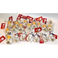 University of WV West Virginia NCAA Licensed Snowman Christmas Ornament Lot