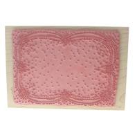 Stamps Happen XL Large Background Floral Rose Frame Ditsy Wooden Rubber Stamp