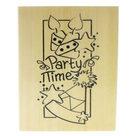 Anita's Party Time Hat and Candles Wooden Rubber Stamp