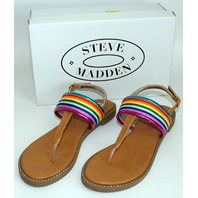 Youth Girls Sz 5 Steve Madden Sandals Multicolor Bling w/ Box