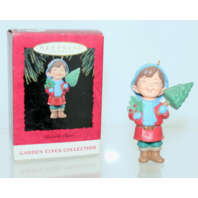 Rare 1994 New Yuletide Cheer Garden Elves Collection Hallmark Christmas Ornament