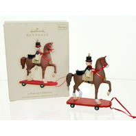 Hallmark Keepsake A Pony for Christmas Horse with Bear Rider Series 11 Ornament