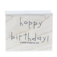 Stampin Up 2006 Hoppy Birthday Wooden Rubber Stamp