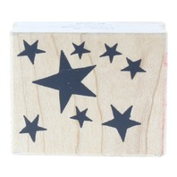 Great Impressions Heavenly Stars Star Cluster Wooden Rubber Stamp