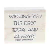 Stampin UP Wishing you the Beast Today and Always 2001 Wooden Rubber Stamp