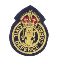 British Civil Defence Corps insignia hand embroidered WWll Felt Uniform Patch