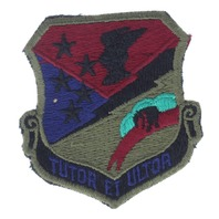 Vintage USAF 49th Tactical Fighter Wing Uniform Patch TUTOR ET ULTOR US Air Force