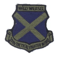 USAF US Air Force 37th Wild Weasel Tactical Fighter Wing Subdued Uniform Patch