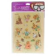 Hallmark Gold Crown 1983 Collectible Stickers Silly Scents Hay Scented Hilbillies