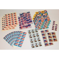 Hallmark Collectible Stickers Collection Lot of Patriotic Flags Metalic USA Eagle