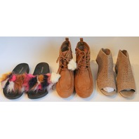 Steve Madden GB Girls Youth Shoe Boot Lot Sz 5-6 New Sparkle