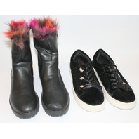 Girls New Steve Madden Youth Boots Shoes Lot Sz 5 Fur Black