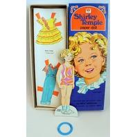 "Vintage, Rare, 1976 Shirley Temple 10"" Paper Doll with 23-pc Wardrobe Uncut Original Boximack"