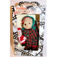 Muffy Vanderbear Couture Goes to the Movies with Santa Plaid Coat Outfit Set
