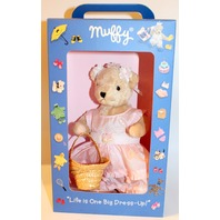 Muffy Vanderbear Bear Pink Flower Girl Dress Outfit Set
