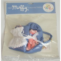 Muffy Vanderbear Pet O Porter Bear and Outfit Bassinette for Baby Bear New Blue